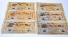 Vintage paper currency/German marks