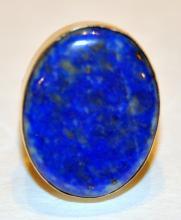 Lapis sterling ring/gold flecks