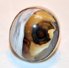 Agate sterling ring /natural stone