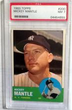 1963 Mantle Topps Yankees BB card