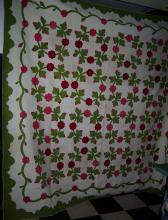 Antique quilt Rose Sharon signed appliqué