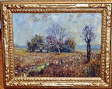 Antique Eugene Higgins oil/canvas signed painting