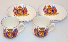 Coronation cup/saucers 1939 Toronto Canada
