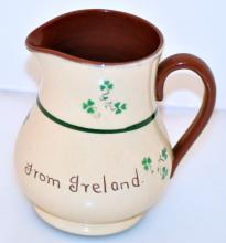Belleek Irish pitcher/Shamrock Carriagaline pottery