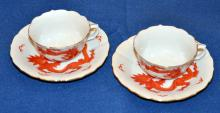 Dragon vintage cups/saucers