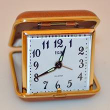 Vintage Elgin travel alarm clock