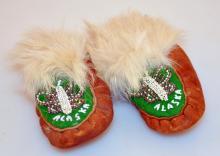 Alaskan vintage moccasins/beaded - childrens