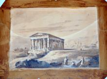 Graphite /Gouache 1844 Athens attributed to Turner