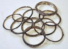 Bangle bracelets/vintage different bangles