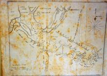 Sapello Island map 1833