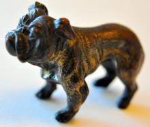 Vienna bronze bulldog antique