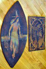 American Indian plaques/vintage polychromed