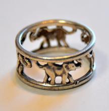 Sterling elephant ring/vintage band