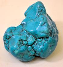 Turquoise howlite nugget aqua