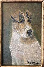 Folk Art Naif Portrait of a Dog