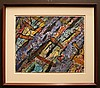 Hyman J Warsager midcentury abstraction painting