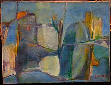 Modernist Abstract Painting signed Camilli