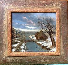 Claes Hals attr. Flemish Old Master Winter Landscape