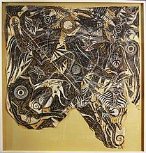 Francois Burland large work on paper from