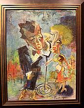 Harry Zee Hoffman Jazz Age Art Deco Painting