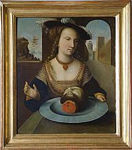 Lucas Cranach (circle of) Salome oil on copper