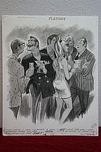 John Ruge Playboy Magazine Illustration comic Cartoon