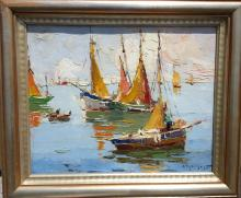 Rudolph Negely Impressionist seascape