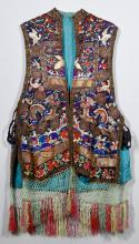 Chinese Silk Embroidered Court Vest