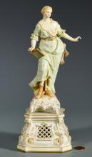 KPM Porcelain Figure of Grecian Female w/ Stand