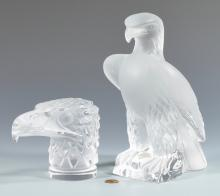 Lalique Glass Eagle Sculpture, Paperweight
