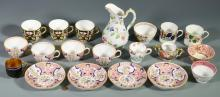 16 Porcelain tea items, most English