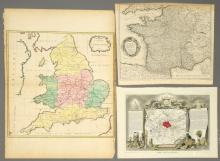 3 European Maps Including France & England