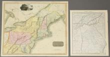 2 United States Maps, including 1817.