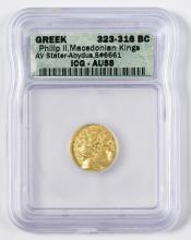 Philip II AV Stater, Abydus Mint