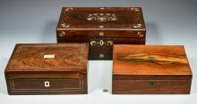 Three 19th century Lap Desks