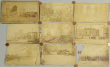 Cincinnati Riot of 1884 and Pulaski TN destruction, albumen prints