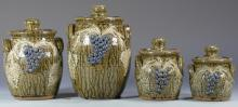 Georgia Folk Pottery Canister Set, Meaders
