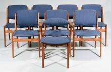 Set 8 Vamo Sonderborg Dining Chairs att. Arne Vodder