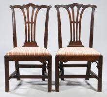 Pair of American Chippendale Side Chairs