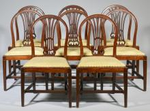 Set 8 George III Mahogany Dining Chairs