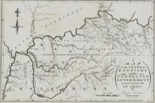 Kentucky and Tennessee Map, 1796 Harris