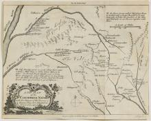 A New Map of the Cherokee Nation, 18th C.