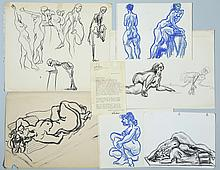 6 Joseph Delaney Drawings & Alex Haley Letter