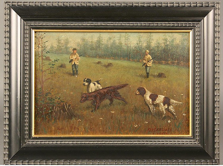 James Marion Fortenbury hunting scene painting