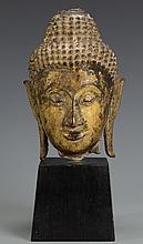 Gilt Bronze Buddha Head