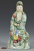 Famille Verte Guan Yin Figure