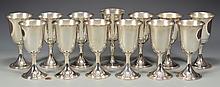 Set of 12 Kirk Sterling Goblets + 1