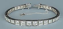 14k Diamond Line Bracelet