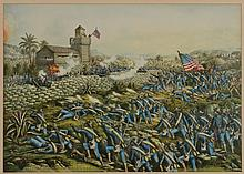 Battle of San Juan Hill Litho, Kurz & Allison