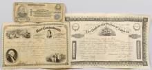 Civil War era Bond & Stock Certificate